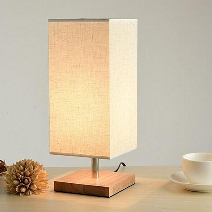 UNIVERSAL Modern Cloth Table Lamp Bedroom Bedside Lamp Desk light Lamp Fixtures 9946HC à prix pas cher