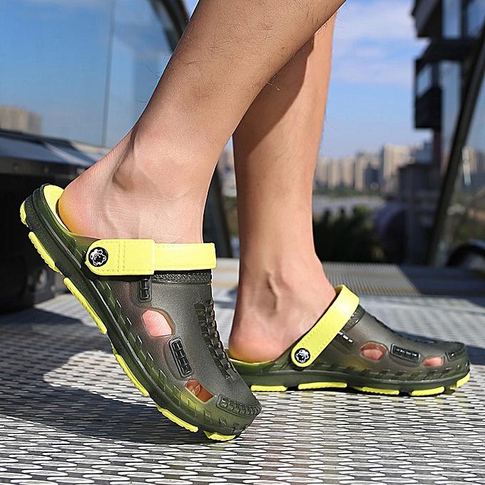 mode de plein air Décontracté Sandals en marchant plage Flip Flops Flat chaussures Hommes été Slippers à prix pas cher