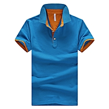 4f06cd285a26 Men  039 s Polo Shirt Summer Short-sleeved Polo Shirt Breathable Casual  Cotton