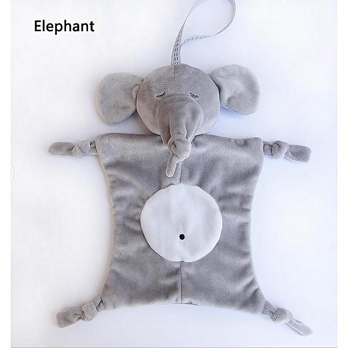 Autre nouveauborn   soothing appease plush towel  Accompany sleeping plush bib toys Soft Soother Towel voituretoon Animal Plush Toys(Elephant) à prix pas cher