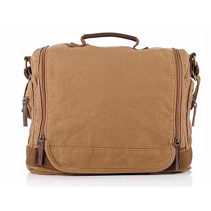 Other Tiger Town Fashion Canvas Single Shoulder Bag Cover Men Solid String Messenger Bag Satchels Casual Travel Men Messenger Bags(khaki) à prix pas cher