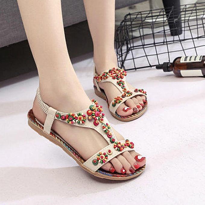 Fashion femmes Ladies String Bead Casual Beach chaussures Sandals à prix pas cher    Jumia Maroc