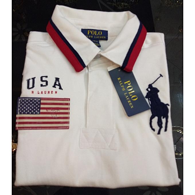 Polo Ralph Lauren POLO Ralph Lauren Court Shirts blanc Taille XL Age Entre 18ans et 20ans. à prix pas cher