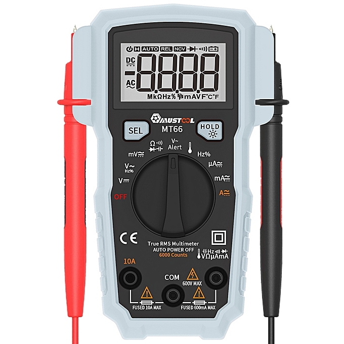 UNIVERSAL MUSTOOL MT66 True RMS 5999 Counts Digital Multimeter AC DC Current Voltage Tester à prix pas cher