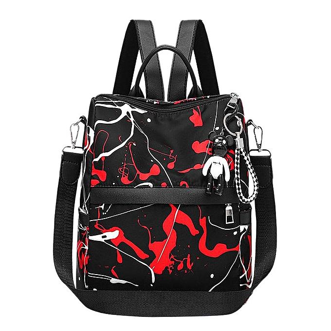 Other Graffiti Style femmes sac à dos Youth sac grand Simple Oxford Cloth sac à dos(noir rouge) à prix pas cher