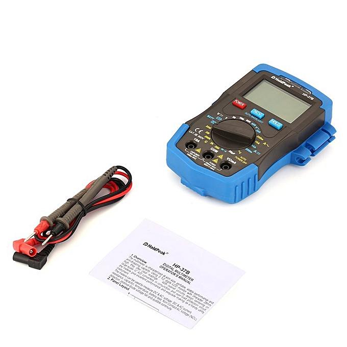 Allwin HoldPeak DC AC Mini Multimètre numérique 1999-6000 HP-37B noir du testeur de capacité à prix pas cher
