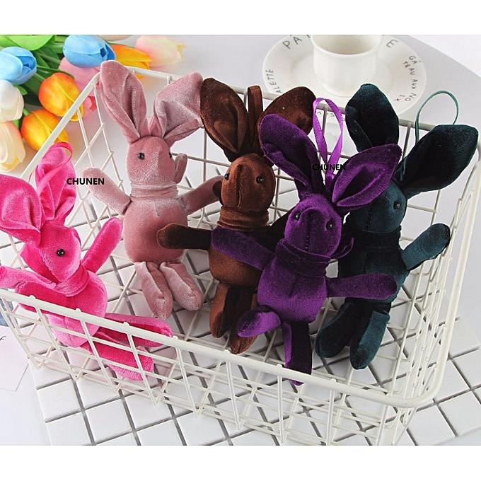 Autre BIG 18CM Approx. Multi Couleurs , Stuffed Rabbit Animals Plush Toys Dolls , Key chain Gift Plush Toys(Couleur) à prix pas cher
