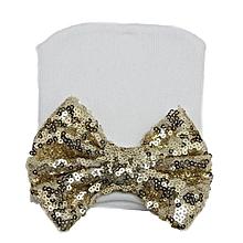 Baby Newborn Infant Girls Sequin Bowknot Beanie Hat Stripe Hospital Cap  Lovely Gold d0c7d20d4571