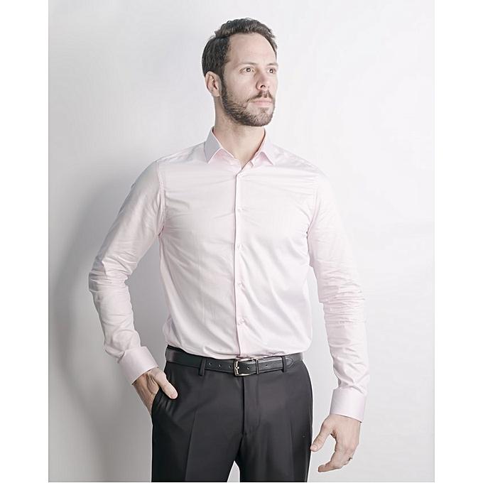 Michel Valentino Chemise M Longue Uni Slim Fit à prix pas cher