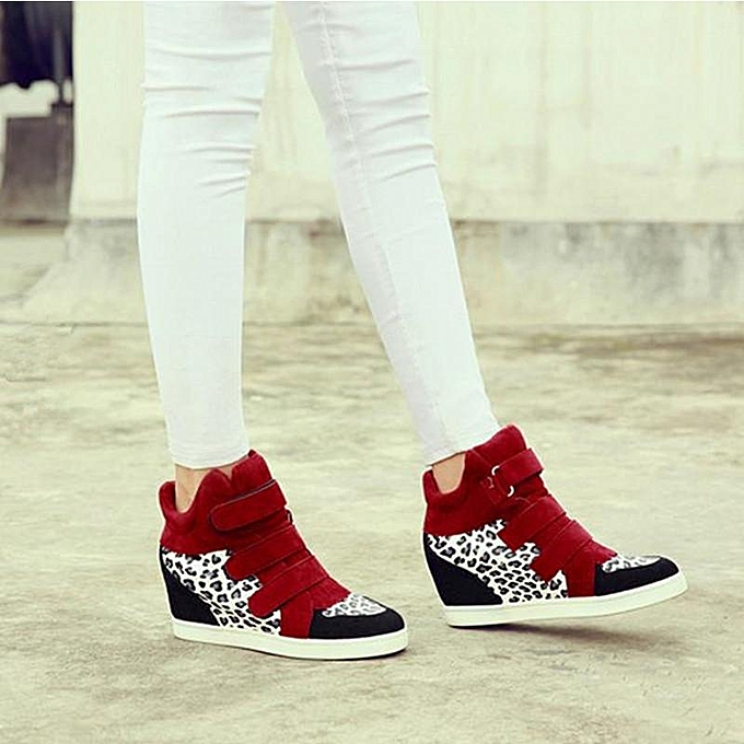 Fashion New Fashion WoHommes WoHommes Fashion  Hidden Wedge Heels High Top Ankle Boots Sneakers Shoes Red+White-EU à prix pas cher    Jumia Maroc 0956ec
