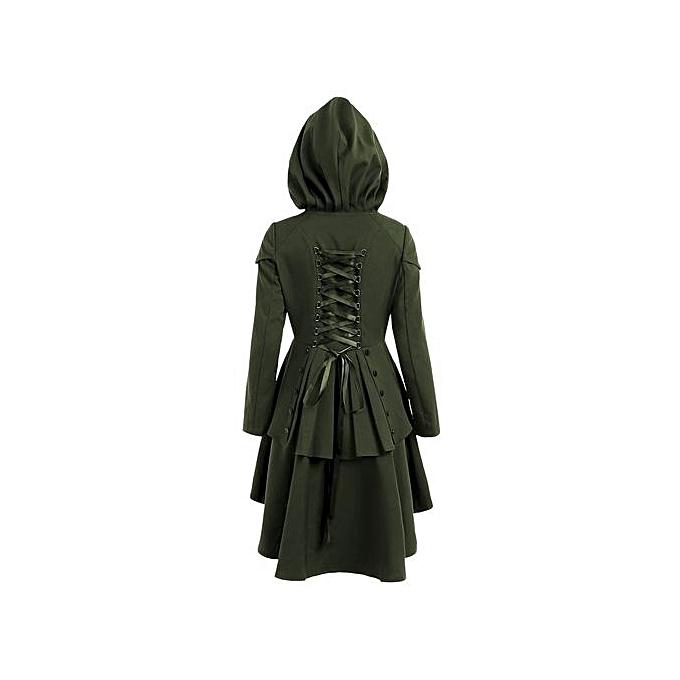 Generic HL Plus Taille Lace Up High Faible encapuchonné Coat (Army vert)(2XL-5XL) à prix pas cher