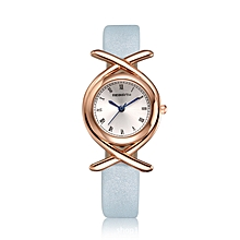81a8b05f0f514c REBIRTH RE047 Roman Number Fashion Women Watch Leather Strap Quartz Wrist  Watch
