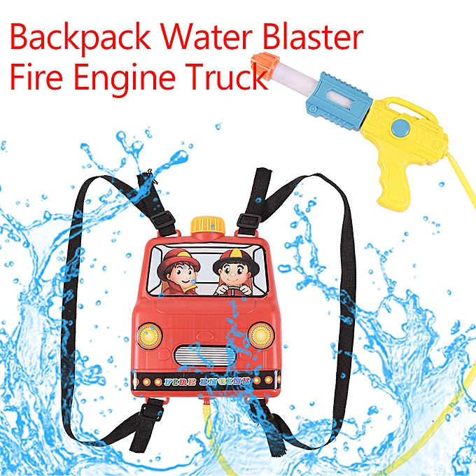 Autre Backpack Water Blaster Pull Water Shooter Fire Engine Truck Kids Water Toy Summer Pool Blaster à prix pas cher
