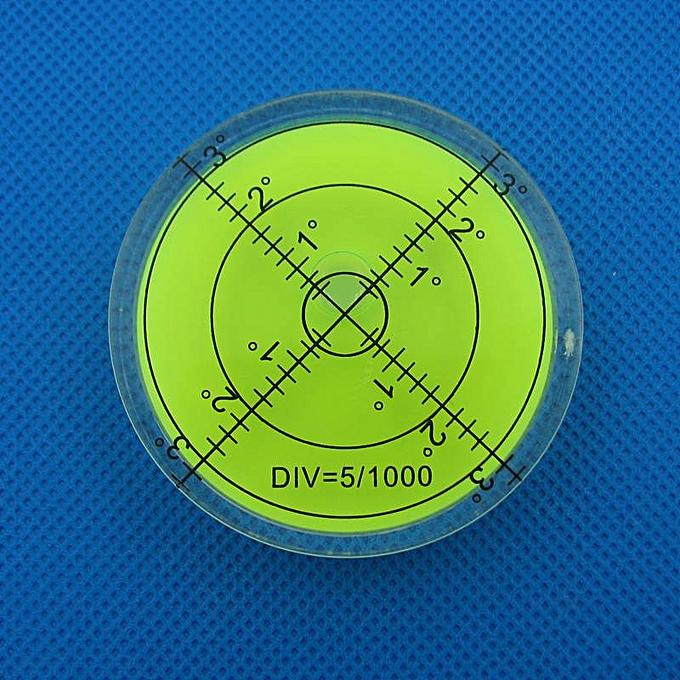 Autre HACCURY 6012mm Circular Bubble Level Spirit level Round Bubble level Universal Prougeractor(vert) à prix pas cher