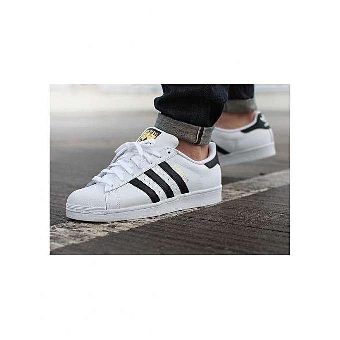 f52e7653ba4 Adidas Superstar Blanc   Noir à prix pas cher