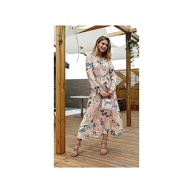 AFankara Bronze Maxi Dresses For femmes à prix pas cher