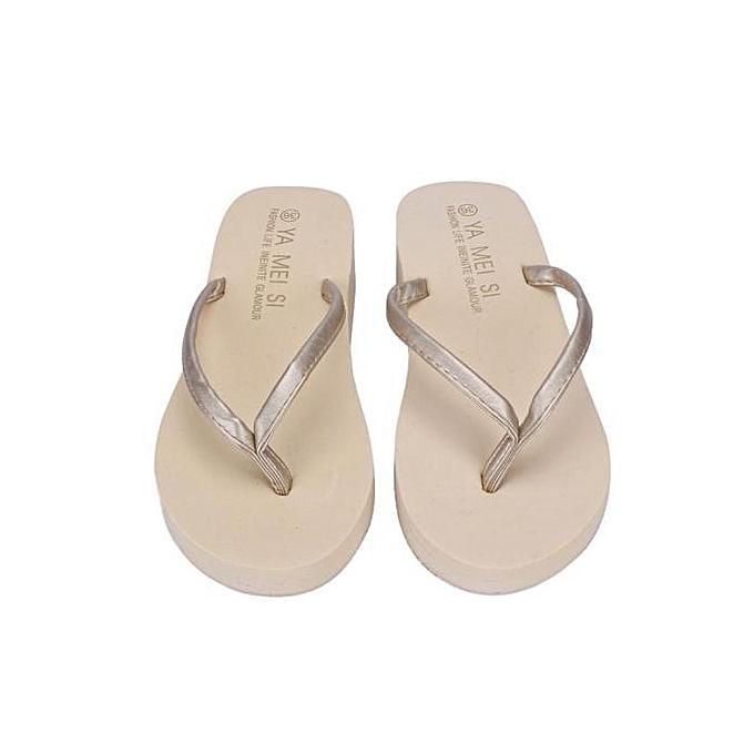 Fashion Hiamok_femmes Summer Flip Flops chaussures Sandals Slipper Indoor & Outdoor Flip-flops WH37 à prix pas cher    Jumia Maroc