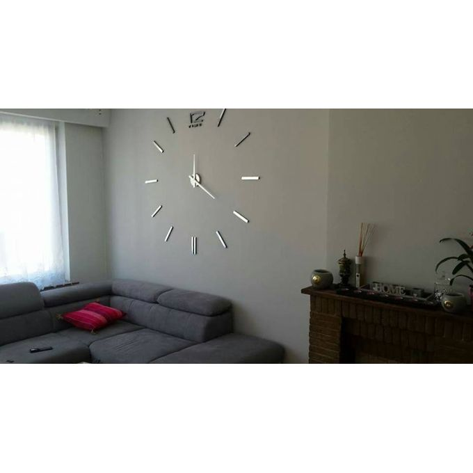 max3 horloge murale 3d originale design silver acheter en ligne jumia maroc. Black Bedroom Furniture Sets. Home Design Ideas