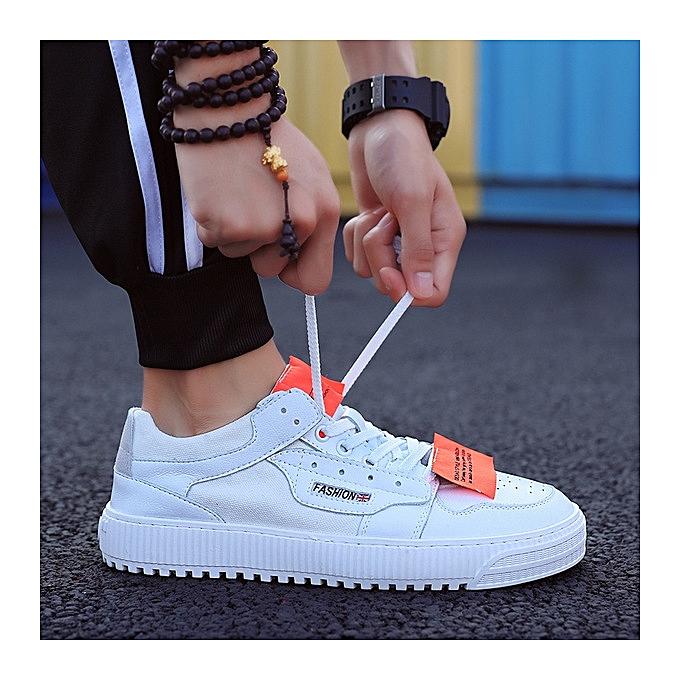 OEM Men's chaussures casual sports hommes chaussures trend wild fashion tide chaussures-blanc à prix pas cher    Jumia Maroc