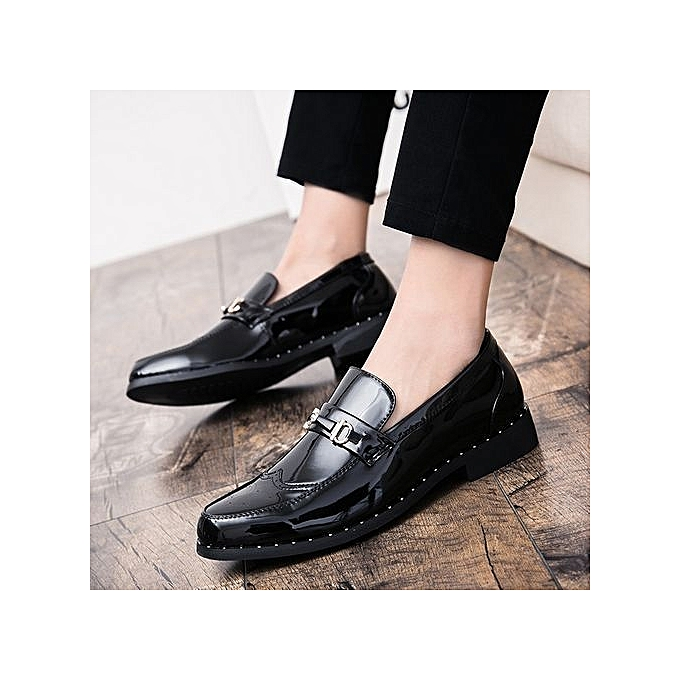 Fashion Genuine Leather   Formal Shoes British Style Style Style Loafers Slip-On High Quality Fashion   Leather Shoes Luxury Brand à prix pas cher  | Jumia Maroc 1c49af