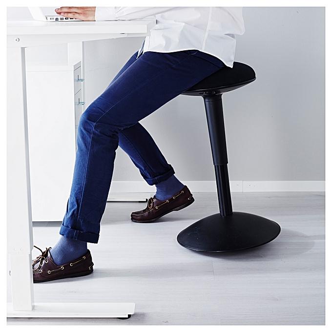 Ikea Tabouret dessinateur noir pour salon et cuisine à prix pas cher
