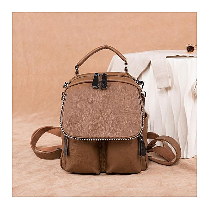 Fashion soft leather shoulder bag handbag 2018 new Korean version of the tide wild simple travel backpack à prix pas cher