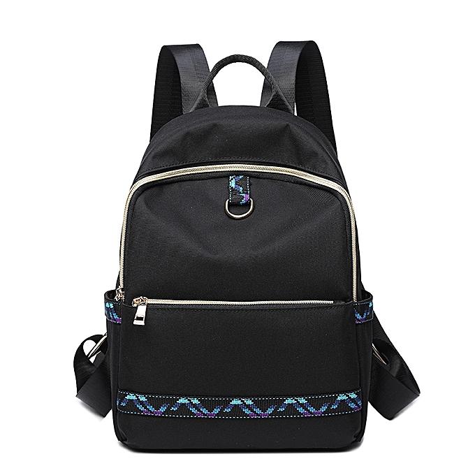 mode Wohommes imperméable voyage sac à doss Female Shoulder sac -noir&bleu à prix pas cher