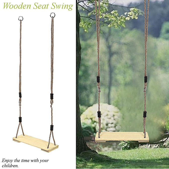 OEM Garden Games Tree Swing Traditional boisen Seat and Weatherproof PE Rope à prix pas cher