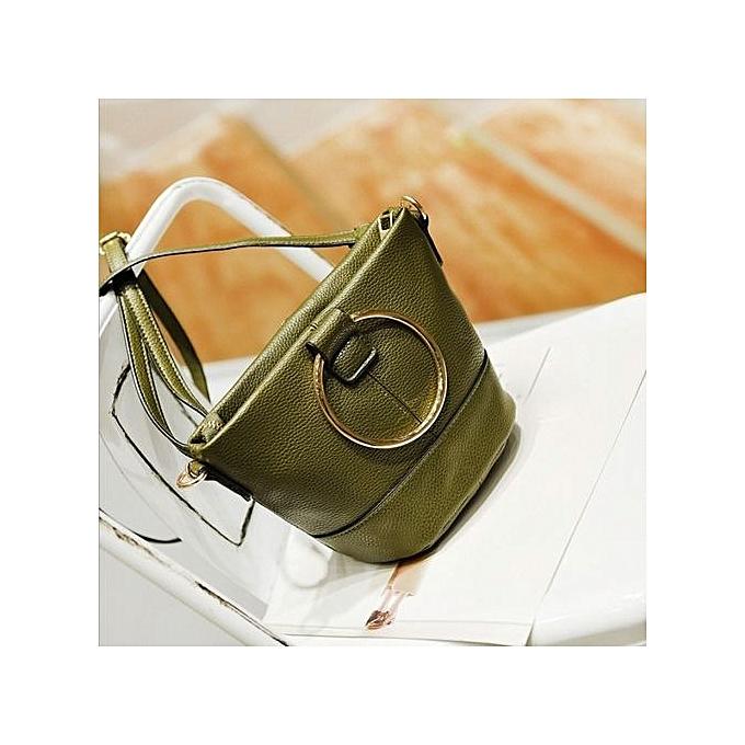 Siketu Fashion femmes Mobile Handbag Buns Bag Bucket Bag Shoulder Messenger Bag GN-vert à prix pas cher