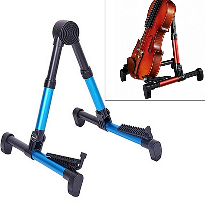 UNIVERSAL Simple Folding vertical Guitar Violin Ukulele Bracket Musical Instrument Stand(bleu) à prix pas cher