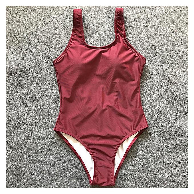 Autre blanc Swimsuit femmes Thong Swimwear High Cut Trikini Backless Bodysuit XXL Taille Bathing Suit(B083Wine) à prix pas cher