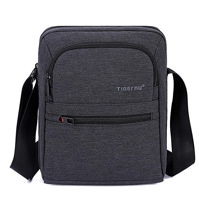 Other Tigernu Brand High Quality Hommes 's Messager sac Mini Affaires Shoulder sacs  Décontracté été sac femmes Cross body sac Male(noir gris) à prix pas cher