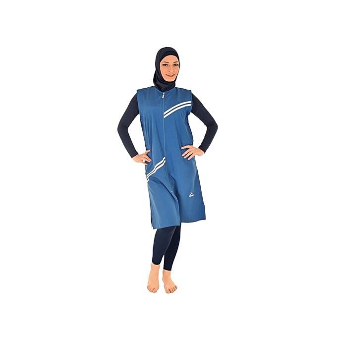 Odema Spor Maillot de bain hijjab burkini 2019- Bleu à prix pas cher