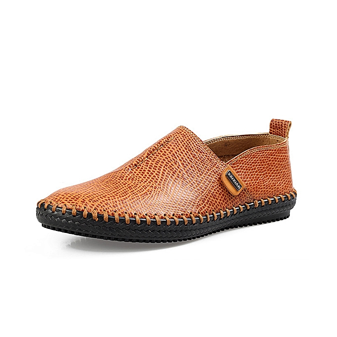 Fashion Men Casual Soft Flats Breathable Oxfords Hand-made chaussures à prix pas cher