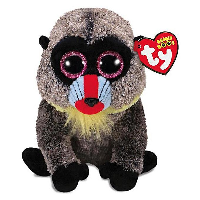Autre Ty Beanie Boos Big Eyes 6  Regular fox 3  fox phone screen clean Clip Plush Toy Doll Stuffed Animal Cute Plush Kids Toy(Light gris) à prix pas cher