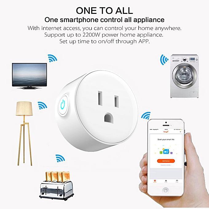 Home Brand 2Pcs Smart Plug Wi-Fi Enabled Mini Outlets Smart Socket Control Your Electric De à prix pas cher