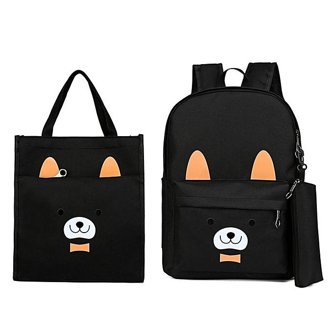 Fashion 3 piece set cartoon puppy student bag backpack backpack à prix pas cher