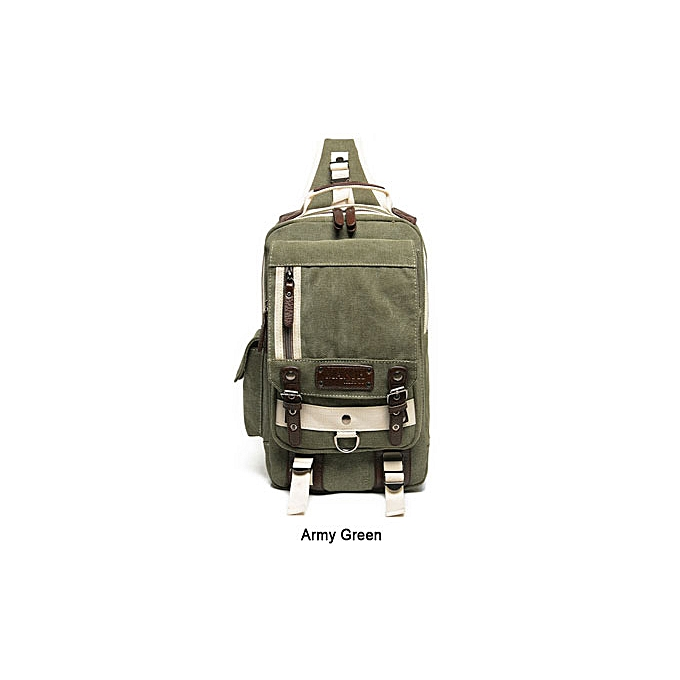 Other 2017 High Quality Canvas Chest Bag Men Casual Travel Small Crossbody Pack Male Designer Fashion Luxury Brand Shoulder Bag( vert) à prix pas cher