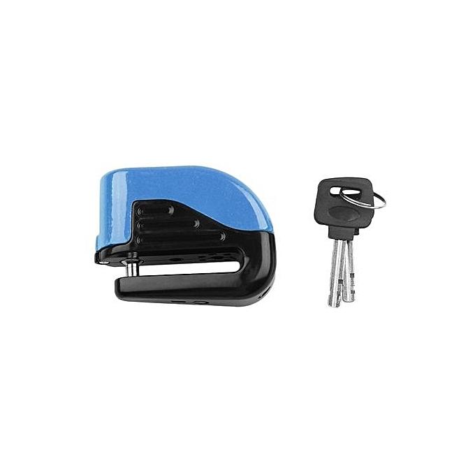 Generic UJ Bicycle Electron Alarm Disc Brakes Lock Mountain Bike Anti Theft Security-bleu-bleu à prix pas cher