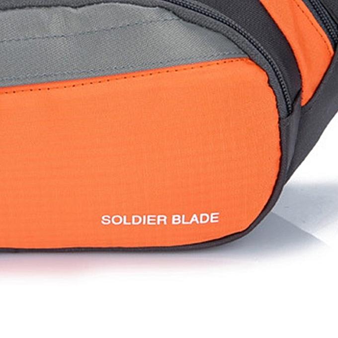 Generic Outdoor Sports Waist Bag Men and femmes Travel Running Fitness Waist Bag Orange à prix pas cher