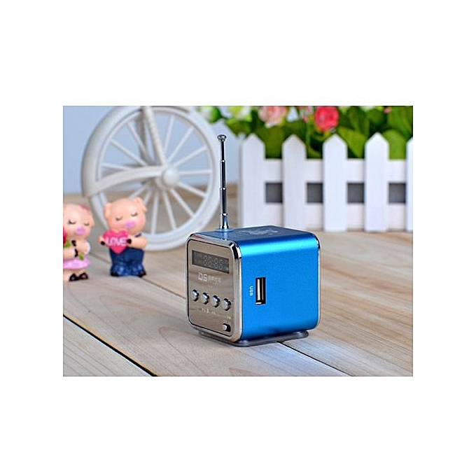 Generic Micro SD TF USB Mini Stereo Bass Speaker Music Player FM Radio PC MP3 4 BU à prix pas cher