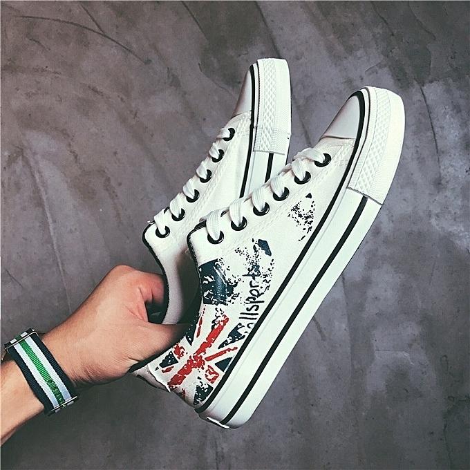 Autre Stylish Korean Fashion Graffiti Graffiti Graffiti Canvas Shoes for   à prix pas cher  | Jumia Maroc a61281