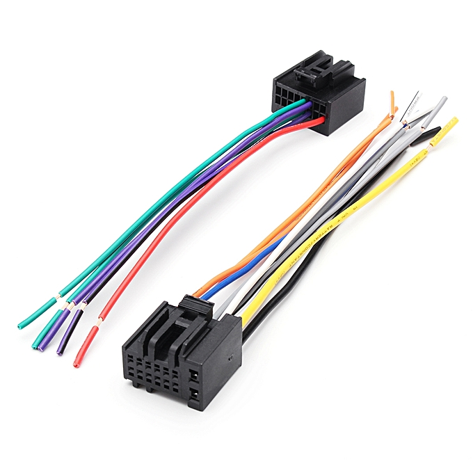 UNIVERSAL 2pcs Car Radio Reverse Stereo Speaker Wiring Harness Plug Cable For Chevrolet 05 à prix pas cher