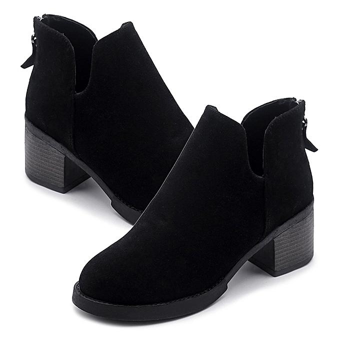 990a64f9a9f Les femmes d hiver 2017 Bottes en cuir occasionnels chaussures haut talon