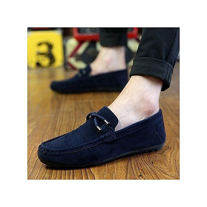Générique Refined Doug Shoes   Fall Boat Shoes Leather All-match All-match Leather Lazy British Retro Casual Pedal Set Foot Driving Shoes - Blue à prix pas cher    Jumia Maroc 22fa41