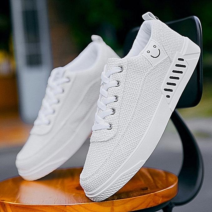 Fashion Lace-Up Canvas baskets - blanc à prix pas cher    Jumia Maroc