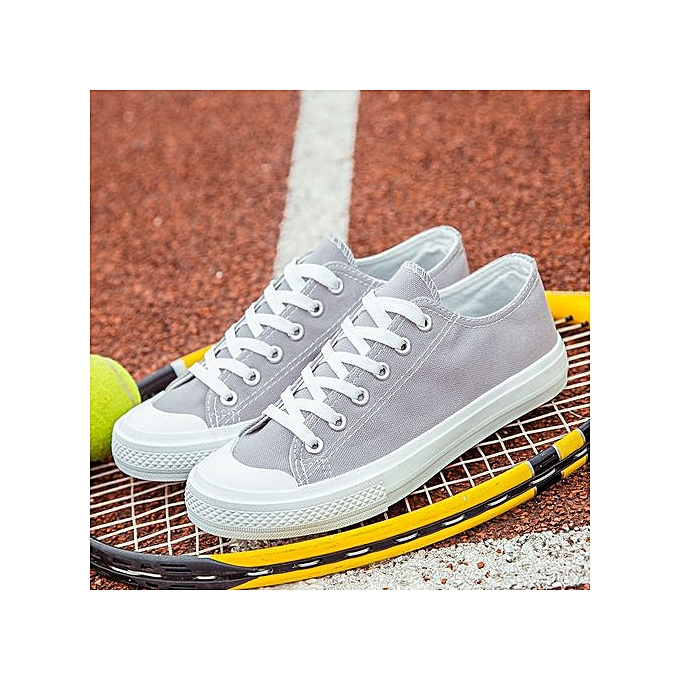 OEM Classic couple canvas chaussures Korean fashion sports chaussures trend low to help students chaussures-gris à prix pas cher