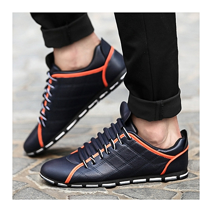 OEM Breathable hommes chaussures, small chaussures, trend, hommes casual lazy chaussures-bleu à prix pas cher
