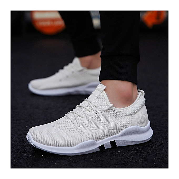 OEM Flying woven mesh new hommes chaussures wild trend vert hommes chaussures breathable one foot single casual chaussures-blanc à prix pas cher    Jumia Maroc