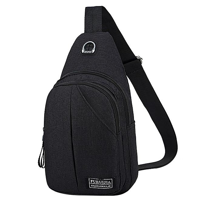 Other Aelicy Men crossbody Bag Oxford Badge Boys Chest Bag travel belt Waist Bag for men Bolsos femmes Bolsas bolso hombre dropshipping(noir) à prix pas cher